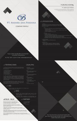 Desain Company Profile Brochure PT. Andaru Jaya Perdana