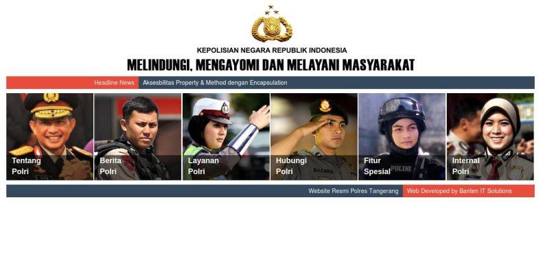 Website Resmi Polres Tangerang