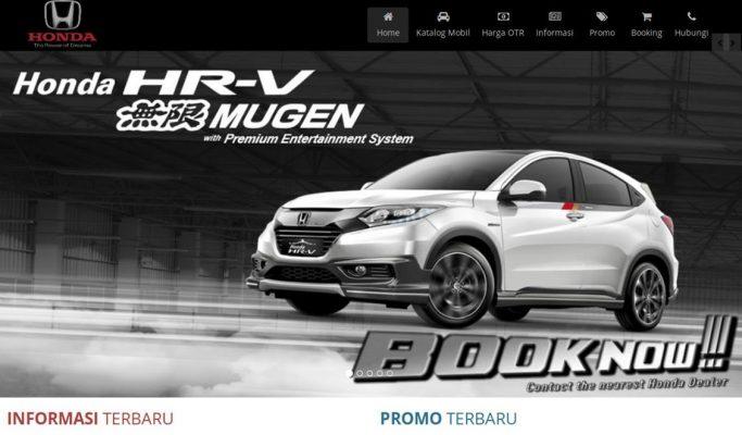 Website Marketing Honda Auto Serang
